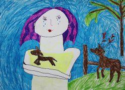 Олененок заболел. Андреева Олеся, 8 лет. ДХШ г. Зеленогорск_1